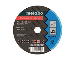 Metabo Trennscheibe Flexiarapid super 76x1,0x10 mm Inox 5St.