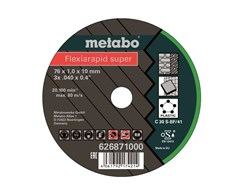 Metabo Trennscheibe Flexiarapid super 76x1,0x10 mm Universal 5St.